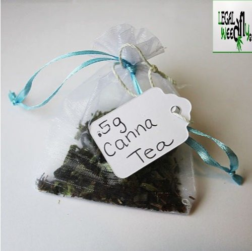 Cannabis Peppermint Tea Bags - Buddha Tea CBD Mint Tea 90mg Water