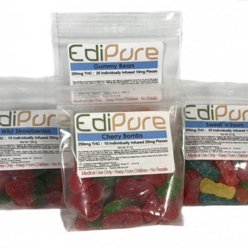 EdiPure Edible Gummies - Lab-Tested, THC - Infused Gummies